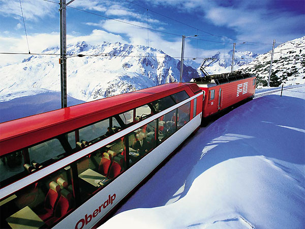 Swiss Glacier Express Train