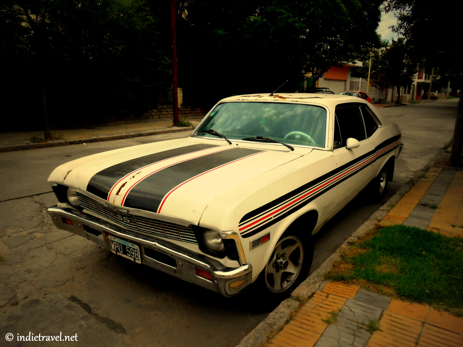 Colourful Vintage Cars Photography Around Argentina
