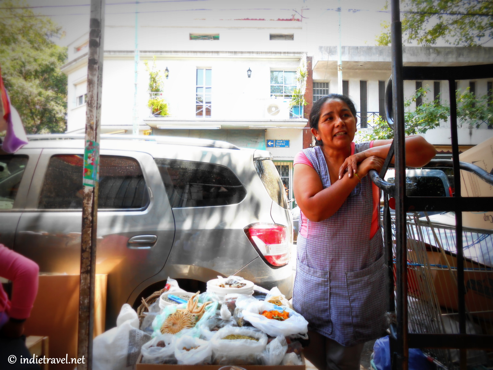 Chola in the Bolivian Market of Liniers
