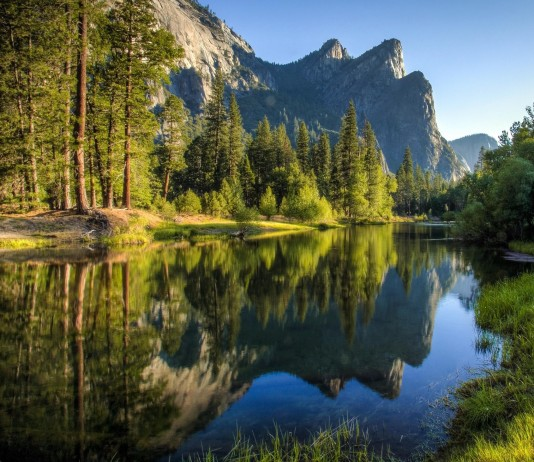 Cathedral Beach in Yosemite National Park