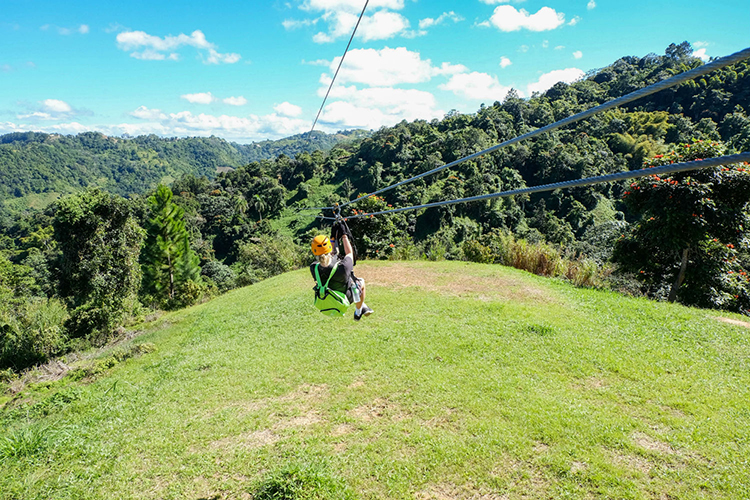 Zip lining at ToroVerde (Photo: Michelle Rae)